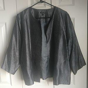 Eileen Fisher size L grey jacket